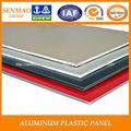 construcción de la decoración de material de construcción panel compuesto de aluminio precio