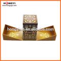 hongyi 2014 nuevo perfume caja de embalaje con grabación en relieve