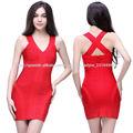 nueva fecha de llegada señoras atractivas patrones vestido rojo de fiesta corto apretado