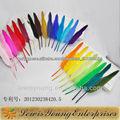 A103 baratos promocionais naturais canetas de pena de ganso, pantone cores disponíveis