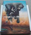 elefante dibujo abstracto foto de la pintura de laca