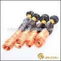 gran stock de soprano dos tonos rizado corto de naranja brasileño remy extensiones de cabello