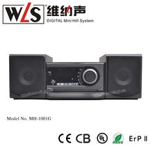 WLS 2014 mini portátil de altavoces con reproductor de cd de apoyo cd dvd disco USB MPEG4 FM del auricular