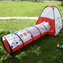 Dot Kids Play Interior / Exterior túnel para Tent Casa Niños Pet Pop Up de juguete de regalo Nuevo