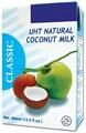 Leche de coco orgánico en tetra pack( uht)