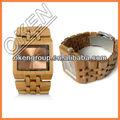 nuevo concepto atractivo de bambú reloj