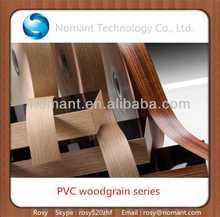 de madera del grano de pvc franja de borde para muebles accesorios
