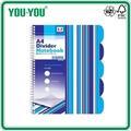 Cuaderno A4 Azul Rayas Con Divisores Espiral Libro de Proyecto Rayado o Liso