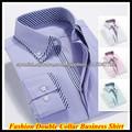 Camisa de lujo doble del collar largo de la manga de los hombres de negocios