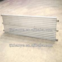 andamios de trabajo etapa plancha de aluminio