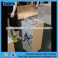 Vidrio estante del zapato exhibición/del zapato de cristal caso de exhibición/zapato de acrílico vitrina