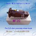 Pistón hidráulico Motor de 3-16 Cement Mixer Truck
