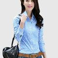 2014 nuevo diseño de moda para mujer camisas de cuadros