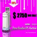 Más bajo mejores precios nunca !! 50% de descuento! mejor 3 maneja proveedor dispositivo de eliminación de acné IPL