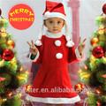 caliente la venta de las niñas lindas de navidad vestido de fiesta con sombrero de papá noel