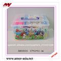 De cuatro colores diferentes formas no- tóxico pp de plástico cuadrados embalaje del barril bloques