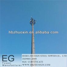 hebei acero zhuoxin telecomunicaciones gsm antena de la torre de polo