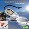 & solar linterna dinamo con 3 super brillante led