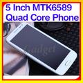 Estrella de android s5 4.2 mtk6589 5 pulgadas dual sim telefono