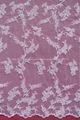 de color rosa de guipur cordón suizo de encaje bordado de tela