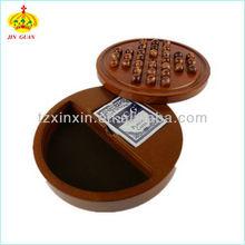 solitario de madera juego de tablero