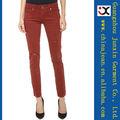 venta caliente 2013 color jeans de pitillo rojo color jeans mujer elásticos (JXC29831)