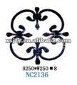 Cerca de hierro forjado/puerta piezas de artesanía