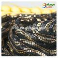 la acción de colores de la tela bailange venta al por mayor de moda diseñada de piedra del bordado de lentejuelas de tela