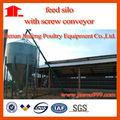 silo de alimentación para pollos de engorde de la granja de aves de corral