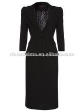 2014 nueva llegada de uniformes de oficina mujer traje de trajes para el tamaño más medio- envejecido traje de las mujeres