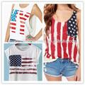 Mesdames ouest 2014 street design cool imprimer des lettres américain. drapeau, motif. élégant hauts cultures t- shirt tee