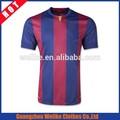 Nuevo diseño del equipo de fútbol de calidad tailandés barça en casa de fútbol jersey, original de banda uniforme de fútbol