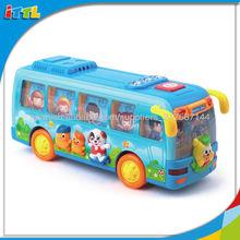 A494696 los niños divertido juguete del autobús de plástico de juguete del autobús escolar