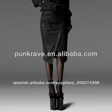 Las mujeres q-197 split negro en la parte inferior de la falda/hermosas faldas de punk rave