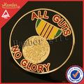 singular de oro ronda placa de metal