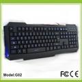 6 teclas multimedia pequeños teclados inalámbricos con luz de fondo