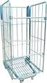 Rodillo de acero jaulas para el transporte, carro para la venta, de metal de malla de la jaula