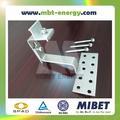 Ajustável telha solar fotovoltaica de montagem sistema de gancho-- mrac telha 120ha interface