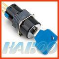16mm IP65 resistente al agua 2 o 3 interruptor de posición de bloqueo de teclas de botón, interruptor de llave