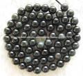 10mm preciosas bonitas pulidas piedras preciosas naturales de obsidiana negra redonda
