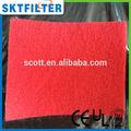 2014 venda quente bio ar azul filtro de poliéster tapete