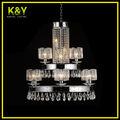 Moderna lámpara de cristal del rectángulo, iluminación Crystorama alta calidad