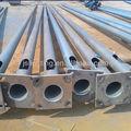 Acero q235certificado calle postes de luz, de acero galvanizado del poste eléctrico 4m, 5m, 6m, 8m, 10m, 12m