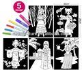 Para colorear de terciopelo conjunto para los niños/- las niñas de la escuela dominical de las artes y la artesanía
