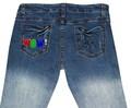 pantalones vaqueros de los hombres de diseño bordado bolsillo trasero