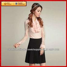 otoño nuevo estilo de las mujeres largas de tela de gasa se visten