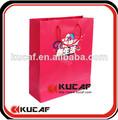 papel de lujo bolsa de transporte con el logotipo de impresión
