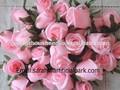 China proveedor/flor de seda artificial/rosa artificial de cabeza de la flor de la decoración