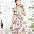 china alibaba de algodón de impresión delantal de cocina