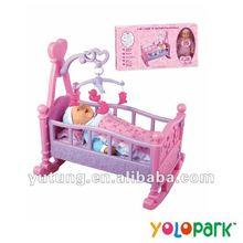 Bebé de plástico de juguete cama con desigh agradable y sabor( 8839b)